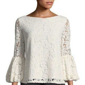 Laundry By Shelli Segal Balloon Sleeve Top Size M